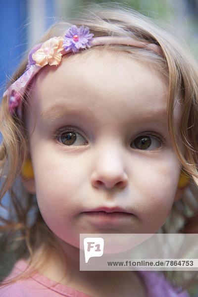 Little girl wearing headband  portrait
