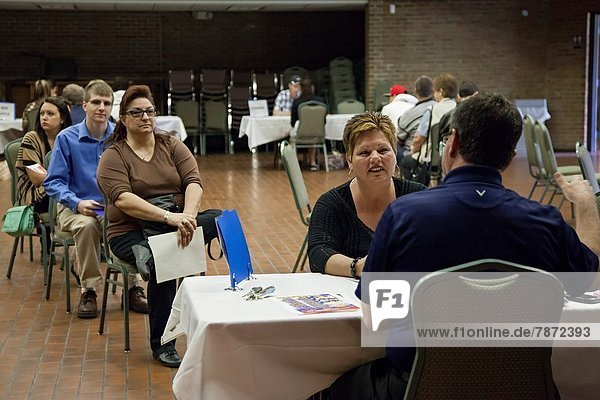 Sterling Heights  Michigan - Job seekers interviewed for part-time  independent contractor jobs at Freedom Hill  an outdoor summer concert theater in suburban Detroit.