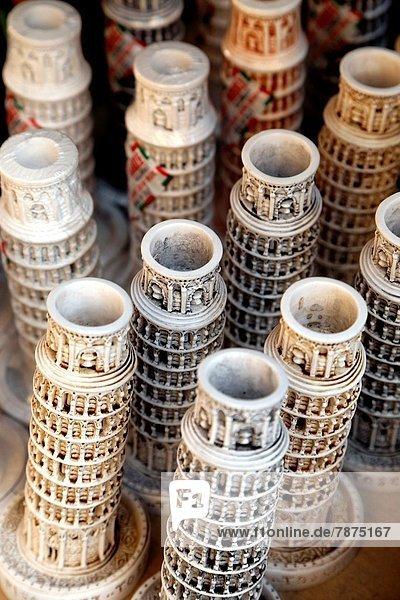 angelehnt  zeigen  Modell  Tourist  Souvenir  Italien  Miniatur  Pisa