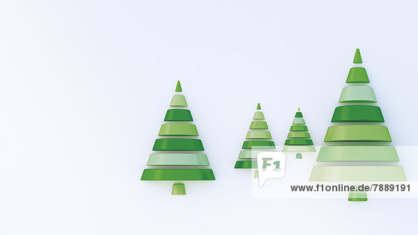 Tannenbäume  3D-Illustration