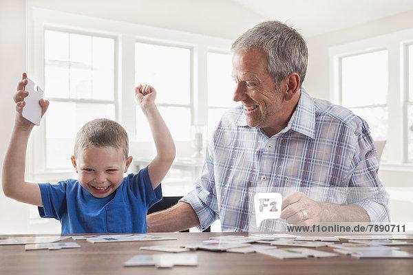 Europäer  Spiel  Menschlicher Vater  Sohn  Karte