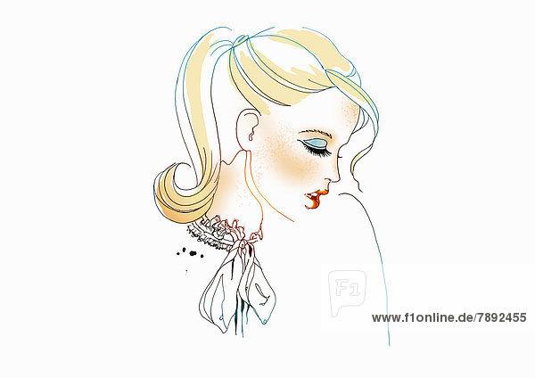 Portrait einer eleganten blonden Frau
