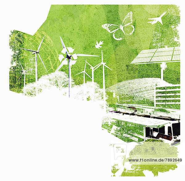 Collage zu Umwelt-Themen Collage zu Umwelt-Themen
