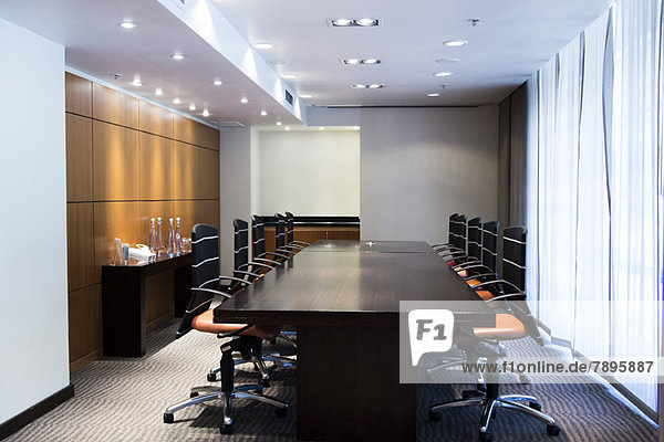 Interiors of a boardroom in an office