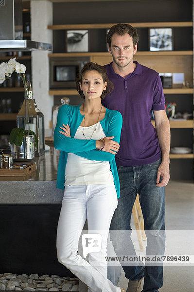 Porträt eines zusammenstehenden Paares