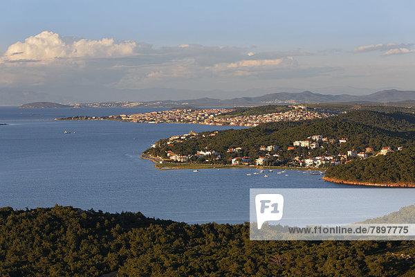 Town of Ayvalik seen from the Devil's Table or ?eytan Sofras?