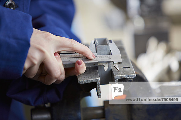 Woman working in manufacturing industry
