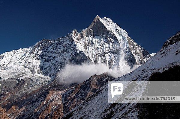 Berg  sehen  camping  Heiligkeit  Annapurna  Lawine  Nepal