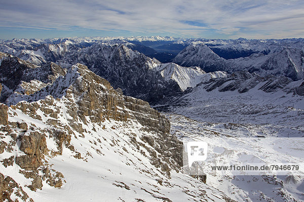Zugspitzplatt  Zugspitze  Wettersteingebirge  Alpen