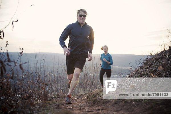 Tag  Nacht  folgen  joggen  Läufer  2  vorwärts