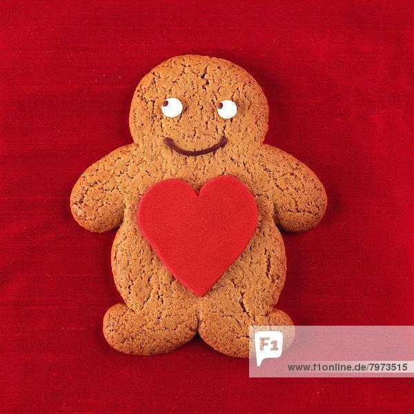 Mann  Lebkuchen  Valentinstag  Biskuit