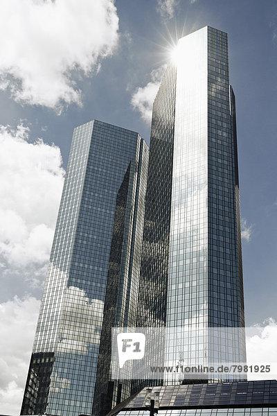 Deutschland  Hessen  Frankfurt  Blick auf die Deutsche Bank in Frankfurt am Main