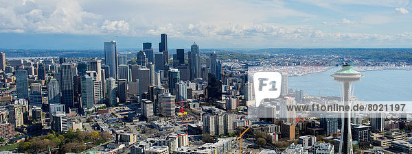 Panorama-Luftbild von Seattle  Washington State  USA