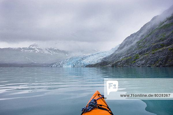 Sommer Kajak Ansicht Prince William Sound