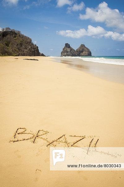 schreiben  Sand  Ansicht  Brasilien