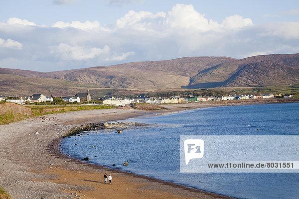 Strand Gebäude Irland Halbinsel Waterville