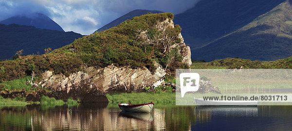 Wasserrand  Nationalpark  Wasser  Ruhe  Boot  vertäut  Killarney