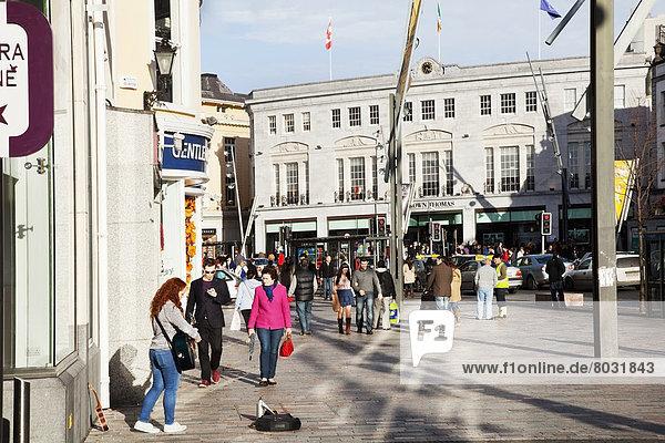 Pedestrians on patrick street Cork city county cork ireland