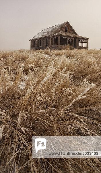 verlassen Bauernhof Hof Höfe Prärie alt