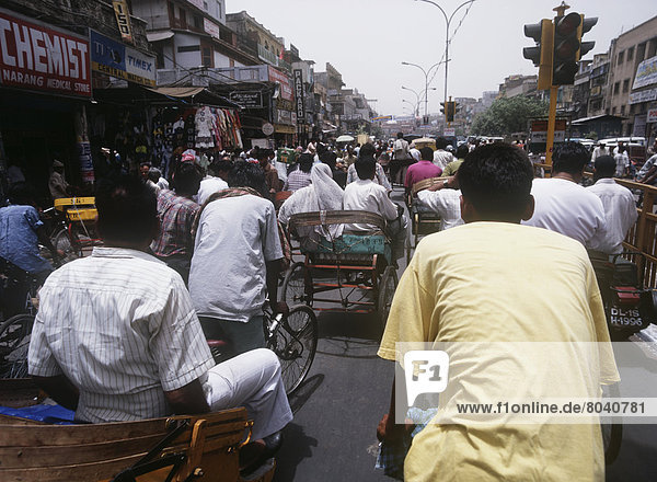 Rickshaws Going Down Chandi Chowk
