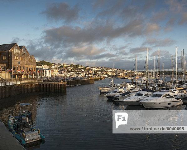 Großbritannien Cornwall England Falmouth Uferviertel