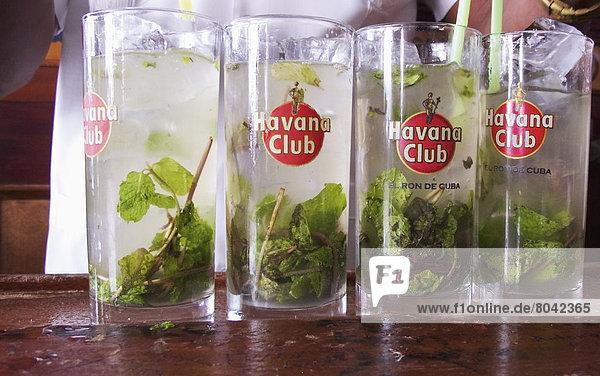 Close-up of cocktails  Havana  Cuba