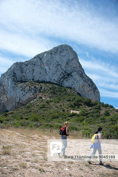 Felsbrocken  Weg  Alicante  Spanien