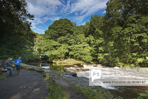 Großbritannien  rennen  Tal  Fluss  rot  Nordirland