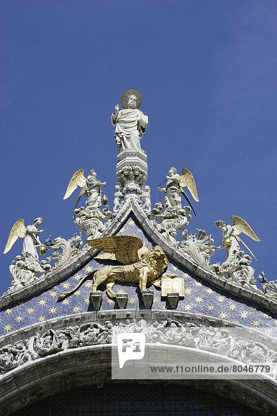 Ornate decoration of Basilica Di San Marco  Venice  Italy