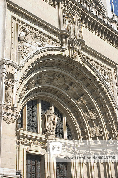 Victoria And Albert Museum (V&A) Exterior  London  Uk.