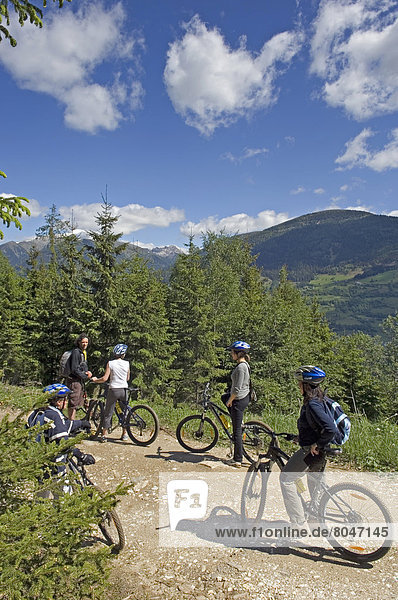 Mountain bikers  Carinthia  Austria
