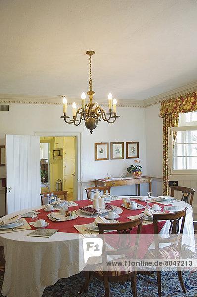 Interior of 1804 Inn at Barboursville Vineyard  Barboursville  Virginia  USA