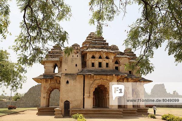 View of Lothus Mahal  Hampi  Karnataka  India