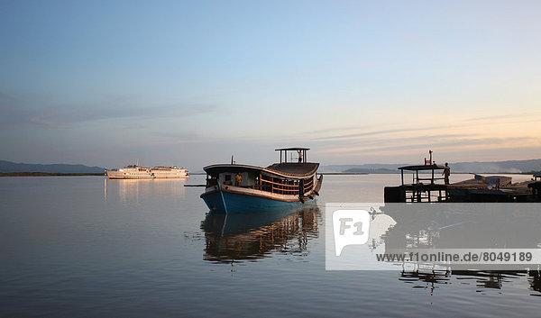 Boats on river  Burma/Myanmar