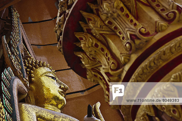 Wat Tham Seu or Big Buddha Temple  Kanchanaburi  Thailand
