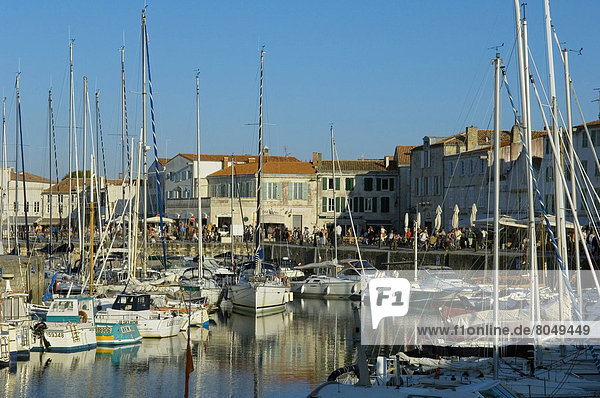 Harbour at Saint Martin de Re on Ile de Re,  Poitou-Charentes,  France