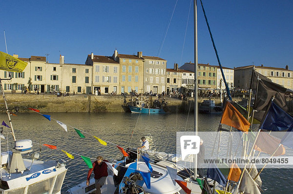 Sailing boats in old harbour,  La Rochelle,  Poitou-Charentes,  France