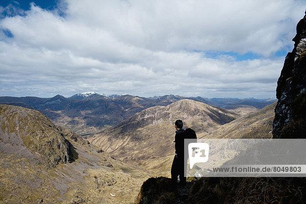 Mann  Bewunderung  Großbritannien  Silhouette  Ansicht  Argyll  Schottland