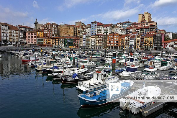 Bermeo (Spain) is the most important fishing port of the Spanish Basque Country  in the province of Biscay. Its port thrives with activity when the ships bring their catch. The fishermen's guild  the quays  the ships and the colored houses in the old port reflect Bermeo's relationship with the sea. The old port is now a yachting resort