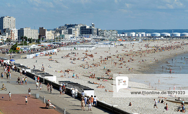 Le Havre (76): the waterfront and the beach
