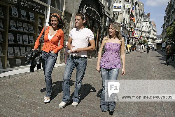 Freundschaft  gehen  Nantes  Ortsteil  Innenstadt