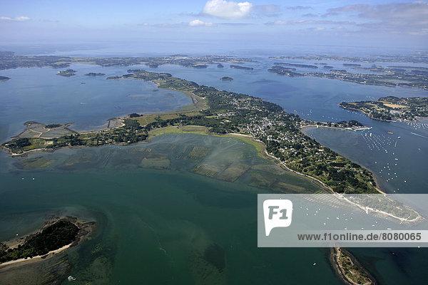 Insel  Ansicht  Luftbild  Fernsehantenne  Morbihan