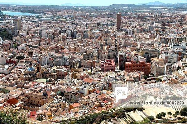Palast Schloß Schlösser hoch oben Ansicht Valencia Alicante Spanien