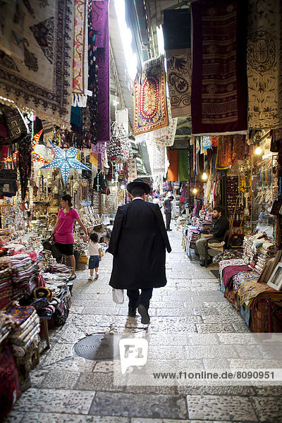 Market in the historic city centre of Jerusalem