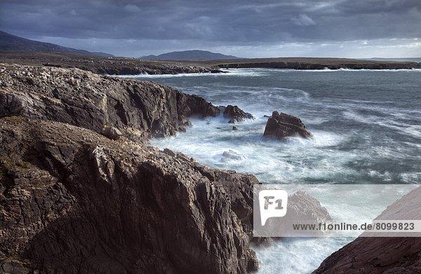 nahe  Europa  Felsen  Großbritannien  Küste  Schottland  Westen