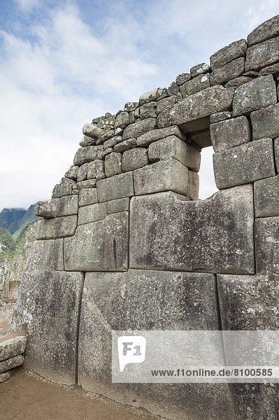 Ruinenstadt Machu Picchu  UNESCO-Welterbe  Peru  Südamerika