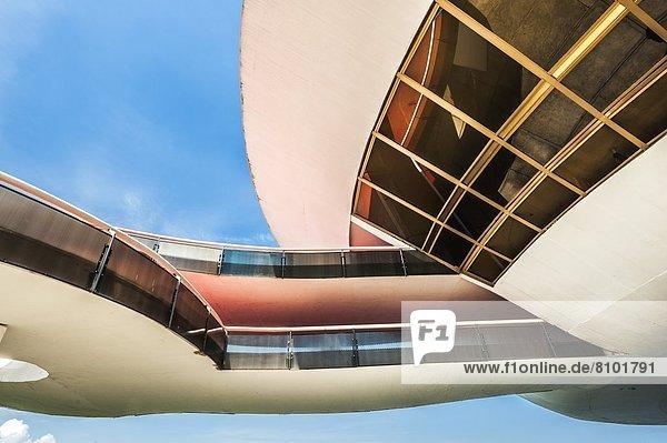 Detail  Details  Ausschnitt  Ausschnitte  modern  Gebäude  Kunst  Museum  Brasilien  Rio de Janeiro  Südamerika