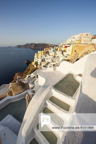 Europa Santorin Kykladen Griechenland Griechische Inseln Oia Ia
