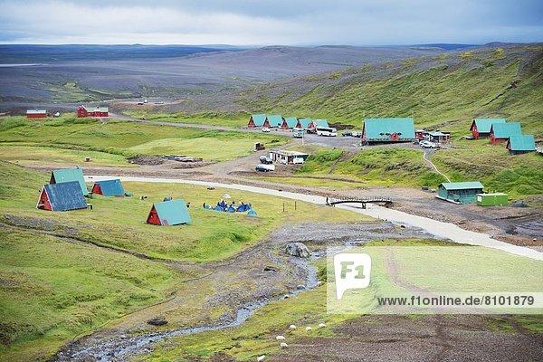 Landschaftlich schön  landschaftlich reizvoll  Almhütte  camping  Island