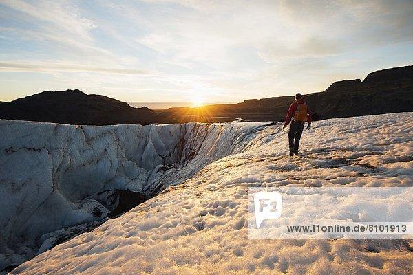 Myrdalsjokull glacier  Iceland  Polar Regions